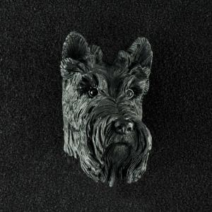 Scottish Terrier 3D Pet Head Cremation Urn Applique