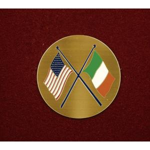 Crossed American/Irish Flags