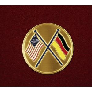 Crossed American/German Flags